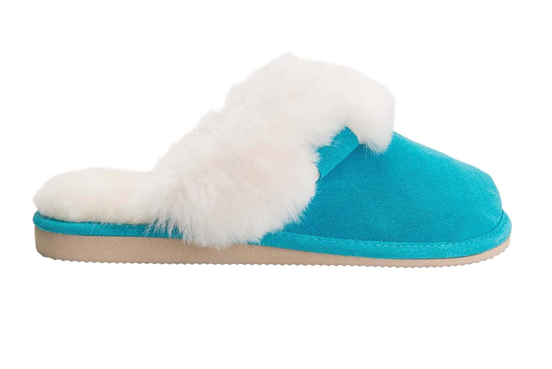 Rusnak Chaussons Peau Vogar Femmes Luxe Peau de Mouton Pantoufles Turquoise Chaussons avec Double Chaud Laine Manchette W74-C Turquoise 4958e4c - digitalweb.space