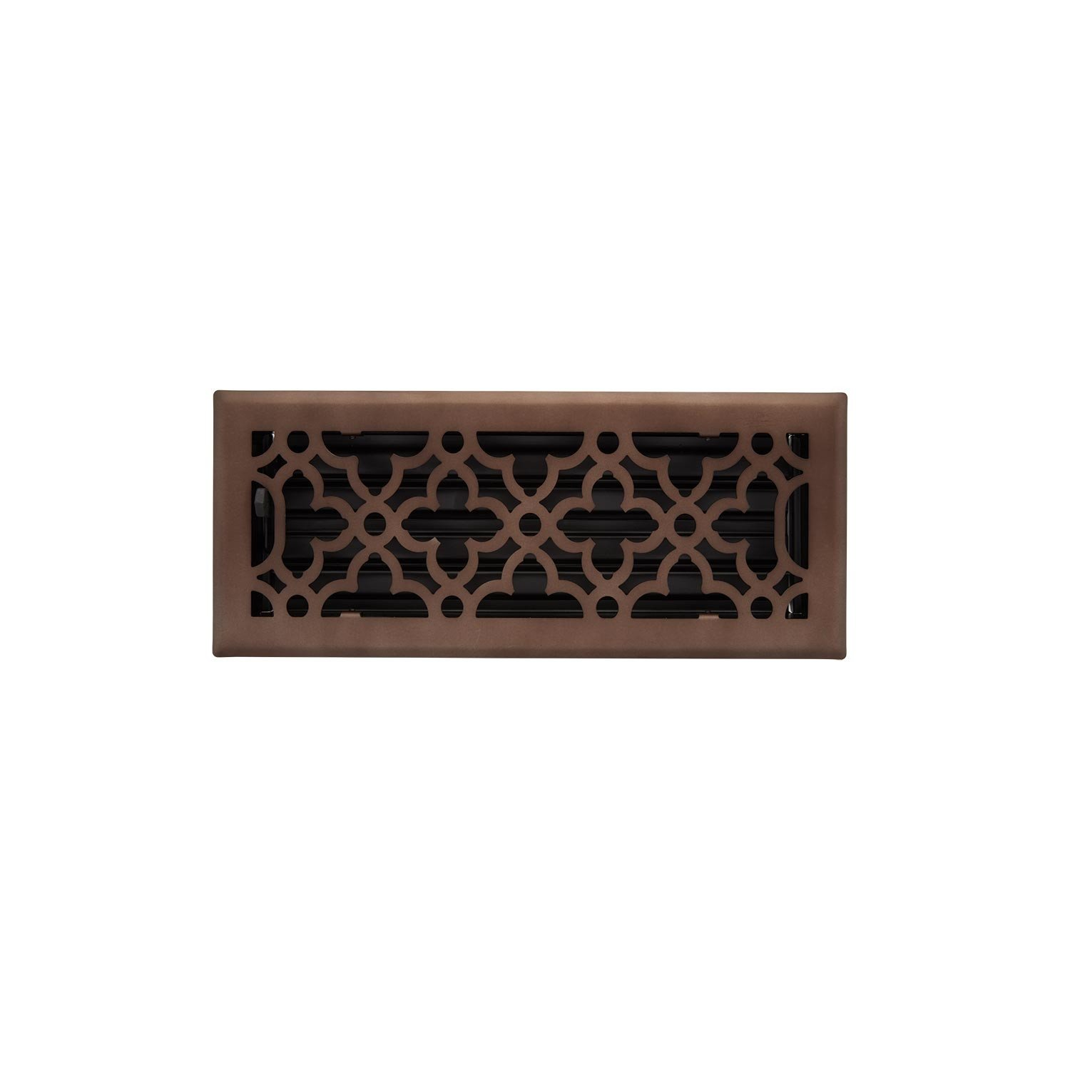 Naiture Bal 3-3/4'' X 12'' (5-1/4'' X 13-3/8'' Overall) Steel Floor Register in Oil Rubbed Bronze Finish