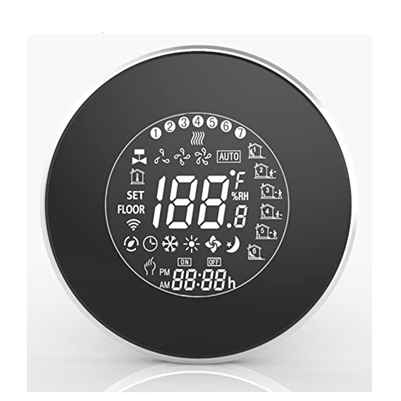 Beca 6000 Series Round Thermostat Two/Four Pipe for Air Conditioning Fan Coil with WIFI Connection (Four Pipe, Black) - - Amazon.com