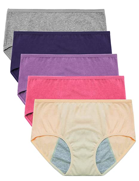 9ac2b45ee292 EIGGAM período Menstrual de algodón para Mujer Ropa Interior Bragas  Postparto a Prueba de Fugas,