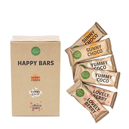 Natural Mojo Happy Bars - 6 barritas veganas - barritas ...