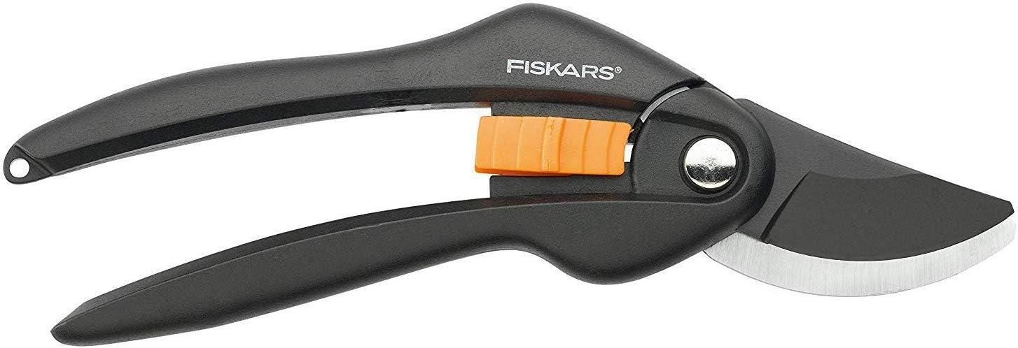 Fiskars Tijeras de podar, Cuchilla bypass, Ø de corte: 2, 2 cm, Negro/Naranja, 1000567: Amazon.es: Jardín