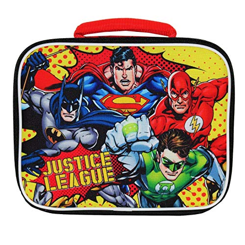 (UPD DC Comics Justice League Batman & Superman Lead-Free Insulated Lunch Tote Box Bag, Multicolor, 10