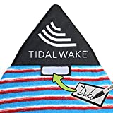 Tidal Wake TAG-IT Pointed Nose Blue Surf & Wake Board Sock Bag with Built-in Name Tag, Personalize - Small 52-53' Blue & Coral Striped,...