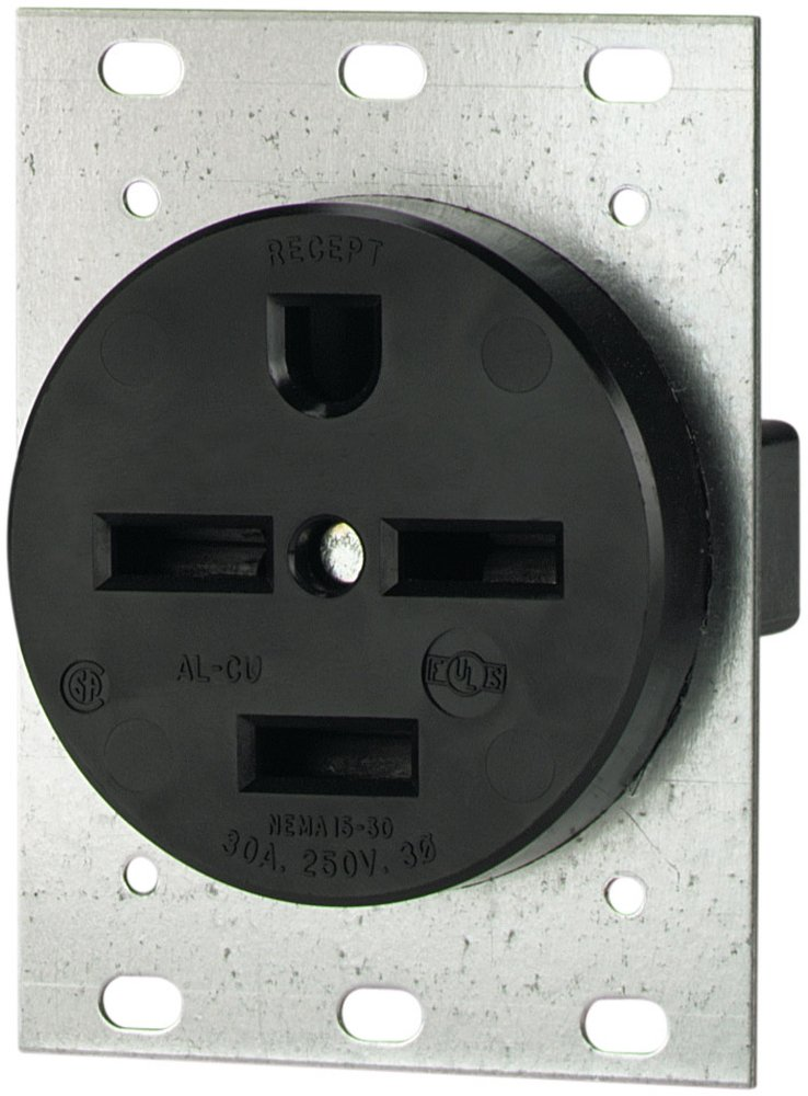 Eaton 8430N 30 Amp 250V 15-30 3-Pole/4-Wire Power Receptacle