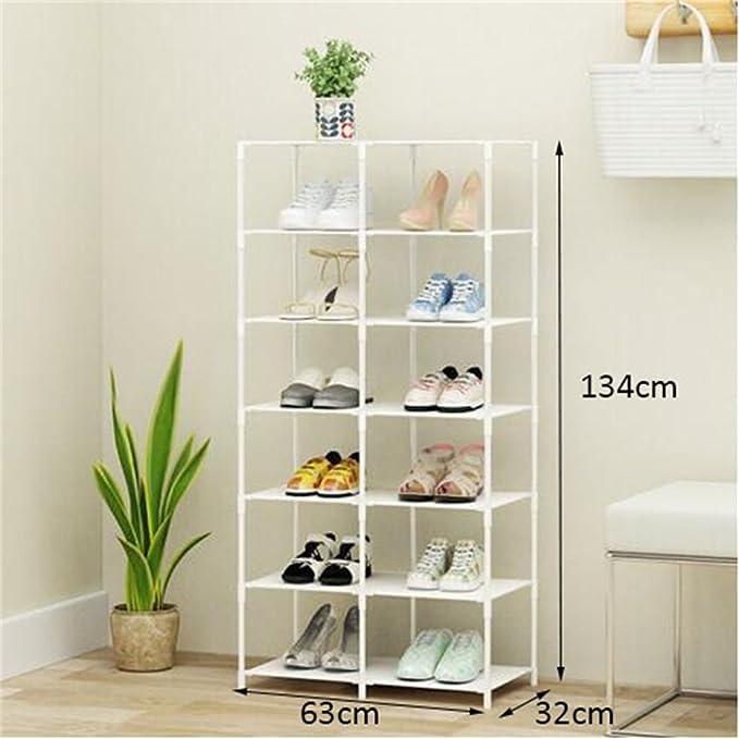 Rack de chaussure simple 8 niveaux de chaussures multifonctions étagère plastique petite chaussure rack (63 32 134cm) mpyzEXzbV