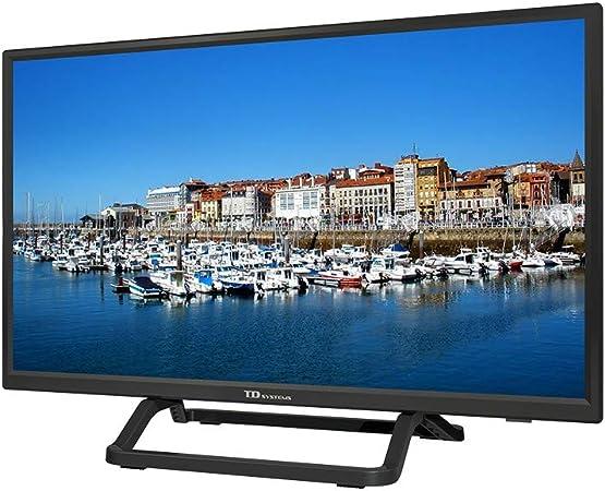 TD Systems - Televisor K24DLX10H, 24 Pulgadas, 1X HDMI, VGA, USB, 800 PCI Hz, Grabador Reproductor, DVB-T2/C/S2, Modo Hotel, Negro: Amazon.es: Electrónica