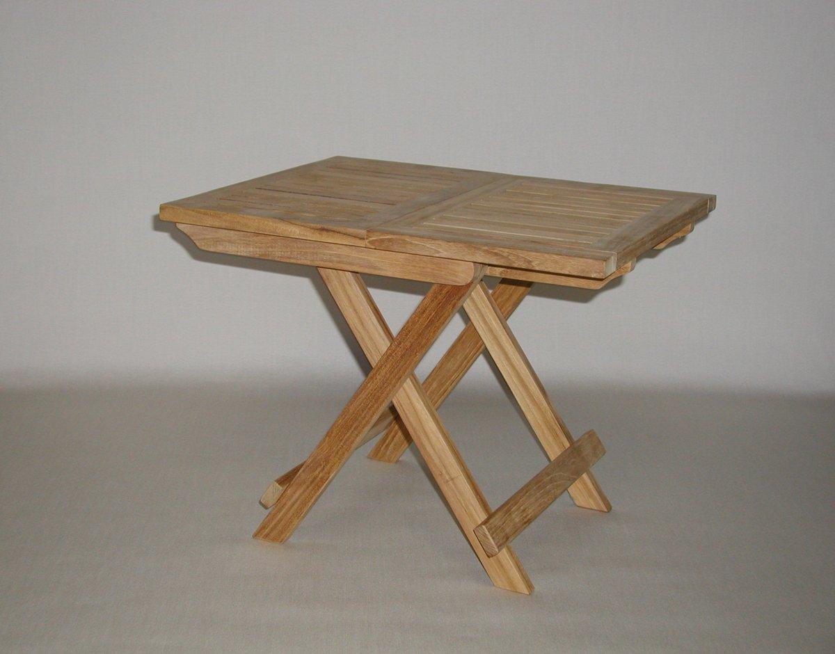 Amazon Folding Teak End Side Table Patio Side Tables