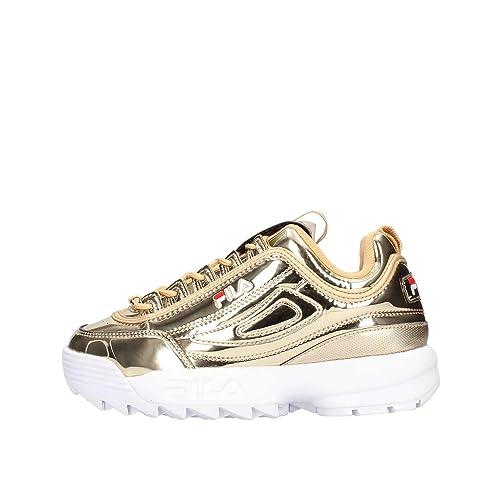 Fila - Zapatillas de Piel sintética para Mujer Dorado Dorado *: Amazon.es: Zapatos y complementos