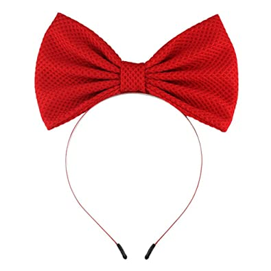 0d8a647cfeb1 Amazon.com  7   Large Bow Hairband For Girls Headbands Hair Accessories  Kids Solid Big Cotton Hair Bow DIY Hair Band Headwear red  Jewelry
