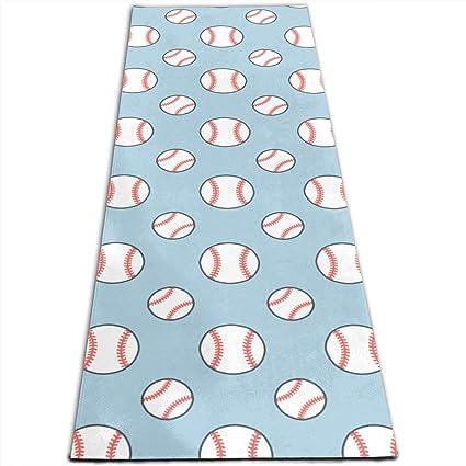 Amazon.com: Baseball Softball Funny Pattern Printed Yoga Mat ...