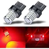 iBrightstar Newest 9-30V Super Bright Low Power 7440 7443 T20 LED Bulbs with Projector replacement for Tail Brake Lights…