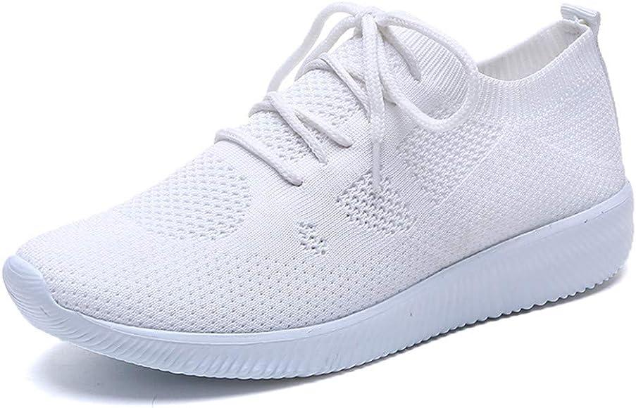 LANSKIRT Zapatillas Running de Mujer Zapatos Deportivos de Malla ...