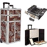Sunrise Outdoor Travel Professional Cosmetic Holder Leopard Trolley Makeup Case - I3265LPBR