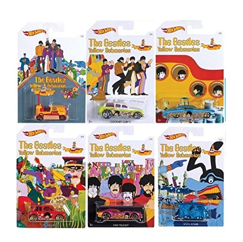 Hot Wheels Arcade Games (Hot Wheels - The Beatles Yellow Submarine - Limited Edition Set of 6 Diecast)