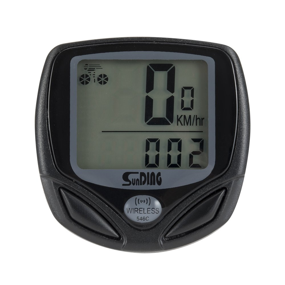 Wireless Bicycle Computer Large LCD Digital Bike Computer Odometer Speedometer