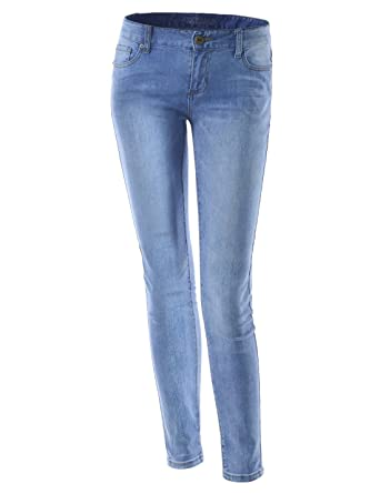 169e1d7ad8 (TWJ301) Womens Ultimate Skinny Perfectly Slimming Denim Washing Stretchy  Jeans LIGHTBLUE 10(Tag