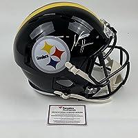 $399 » Autographed/Signed Najee Harris Pittsburgh Steelers Full Size FS F/S Replica Football Helmet Fanatics COA