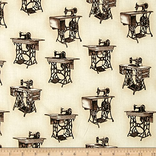 Kaufman Sewing With Singer Treadle Machines Antique Fabric By The Yard - Antique Treadle Sewing Machines