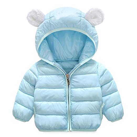 b99378bf1 Amazon.com  Baby Boys Girls Winter Puffer Down Jacket Kids Ear Warm ...