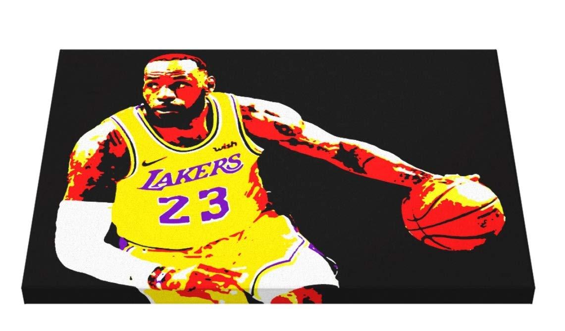 FRATTA; Lebron James - Baloncesto NBA; Cuadro Pintado A Mano ...