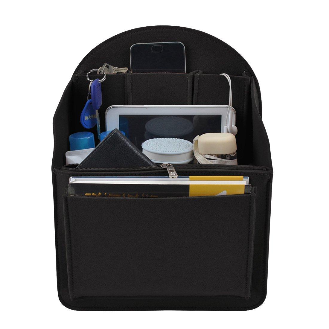 Enerhu Felt Backpack Insert Organizer Universal Bag in Bag Men Women Shoulder Tote Bags Handbag Organizers Black