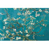 Vincent Van Gogh Turquoise Almond Branches in Bloom, San Remy Art Poster Print - 24x36