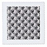 3dRose Sven Herkenrath Art - Pattern People with Eyes and Funny Animal Love - 18x18 inch quilt square (qs_280343_7)