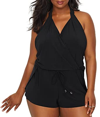 0015cf573c2 Magicsuit Womens Plus Size Solid Bianca One-Piece at Amazon Women's ...