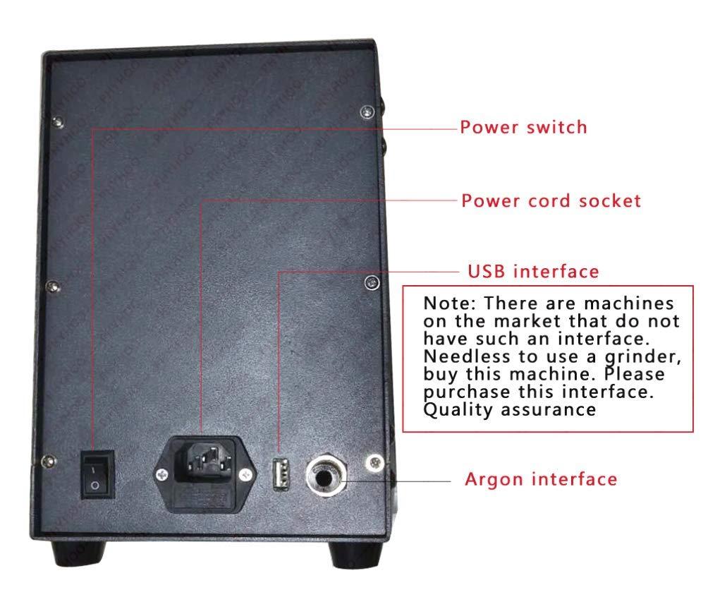 Hycy® 220 V Máquina De Soldadura por Puntos De Acero Inoxidable Control Numérico Automático Pulso Pulso Argón Soldadora De Arco para Soldadura De Joyería: ...