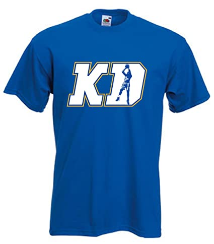 Royal KD DURANT Golden State quotKD LOGOquot T-Shirt ...