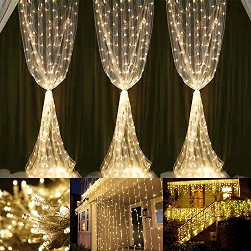neretva window curtain icicle lights 600 leds string fairy lights 1968ftx984ft 8 modes linkable icicle fairy lights for christmas party wedding home