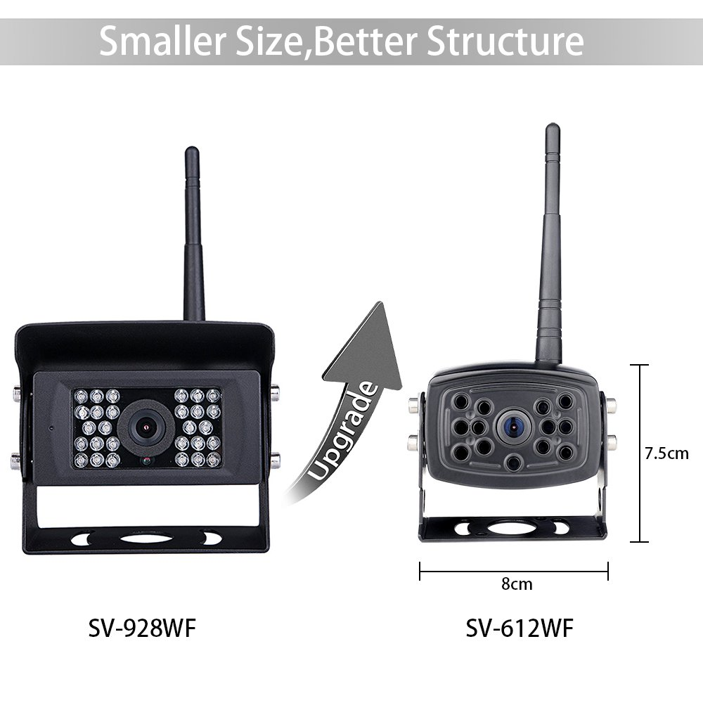 【2nd Generation】 SVTCAM SV-612W Wireless Backup Camera, Waterproof Night Vision Wireless Rear View Camera for Trucks/Trailers/Camper/5th Wheel. WiFi Backup Camera Works with iOS and Android Device by SVTCAM (Image #2)