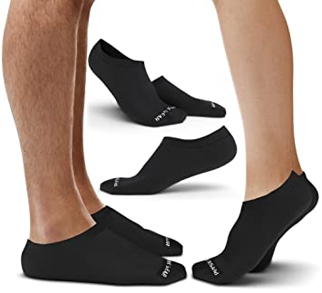 Physix Gear Sport No Show Socks Pack For Men & Women - Best Athletic & Casual Low Cut with Non Slip Silicone Heel Grip - Anti Bacterial… 2AOh88n