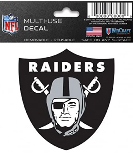 Image Unavailable. Image not available for. Color  Oakland Raiders NFL 3x3  Static Window Cling Decal 89085683be5