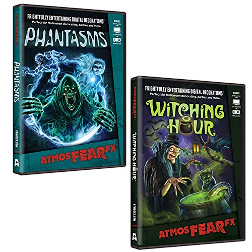 AtmosFearFX Phantasms & Witching Hour DVD Combo Pack. Virtual Halloween Window Projection Decoration. -