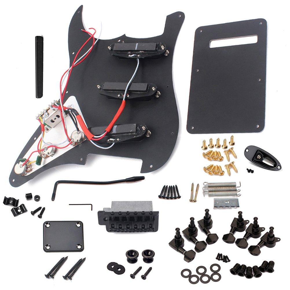 ULTNICE Kit Guitare /Électrique Pickguard Couverture Arri/ère Pont Syst/ème Syst/ème ST Kit Accessoires Complets