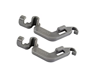 W10082853 Dishwasher Tine Pivot Clip Replacement Parts for Whirlpool Kenmore KitchenAid (Pack of 2)