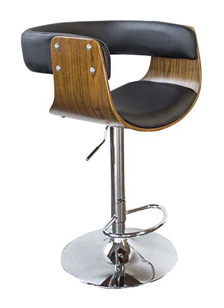 Fine Amazon Com Offex Bent Wood Jet Faux Leather Adjustable Dailytribune Chair Design For Home Dailytribuneorg