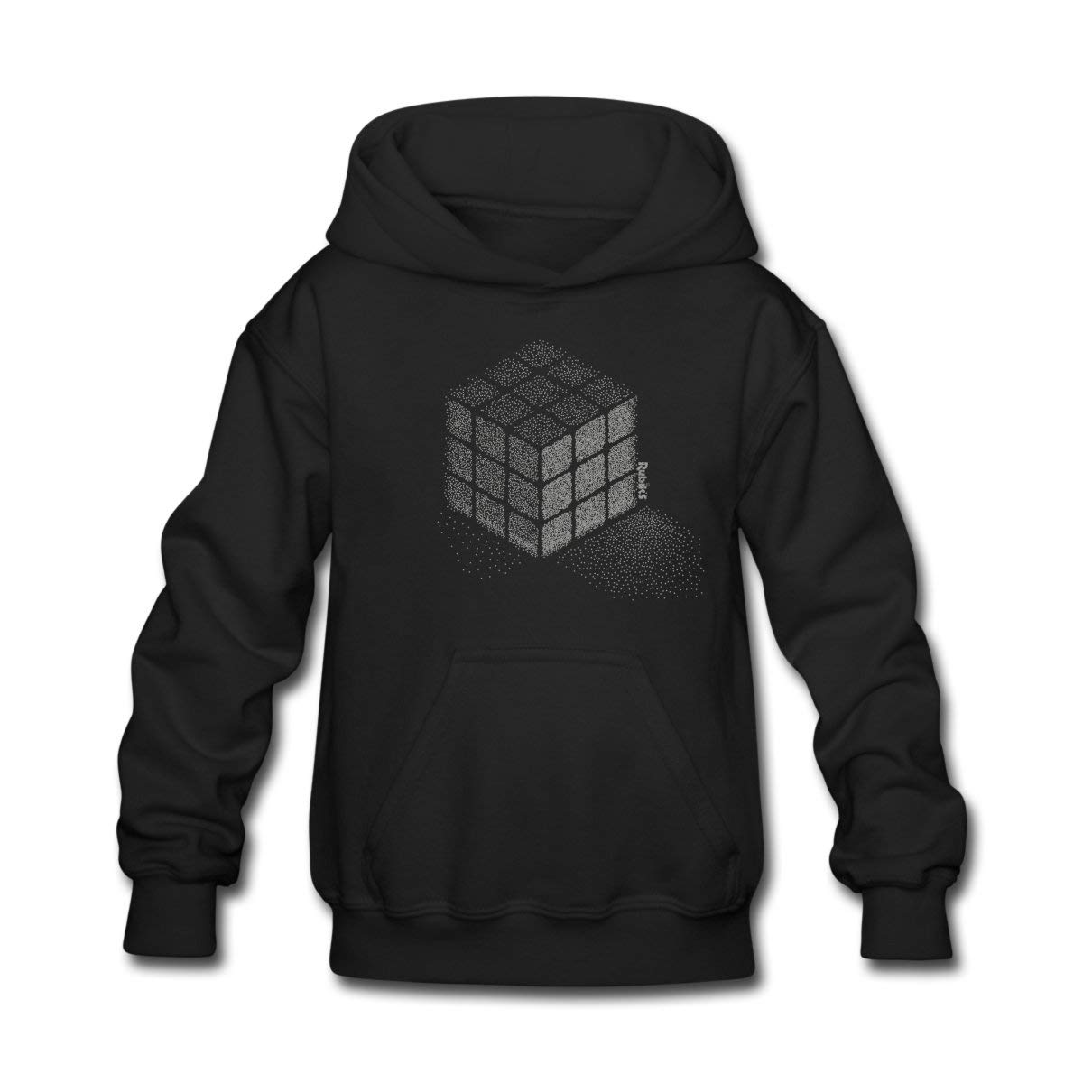 Amazon.com: Rubiks Cube Stippling Dotted Cube Kids Hoodie ...