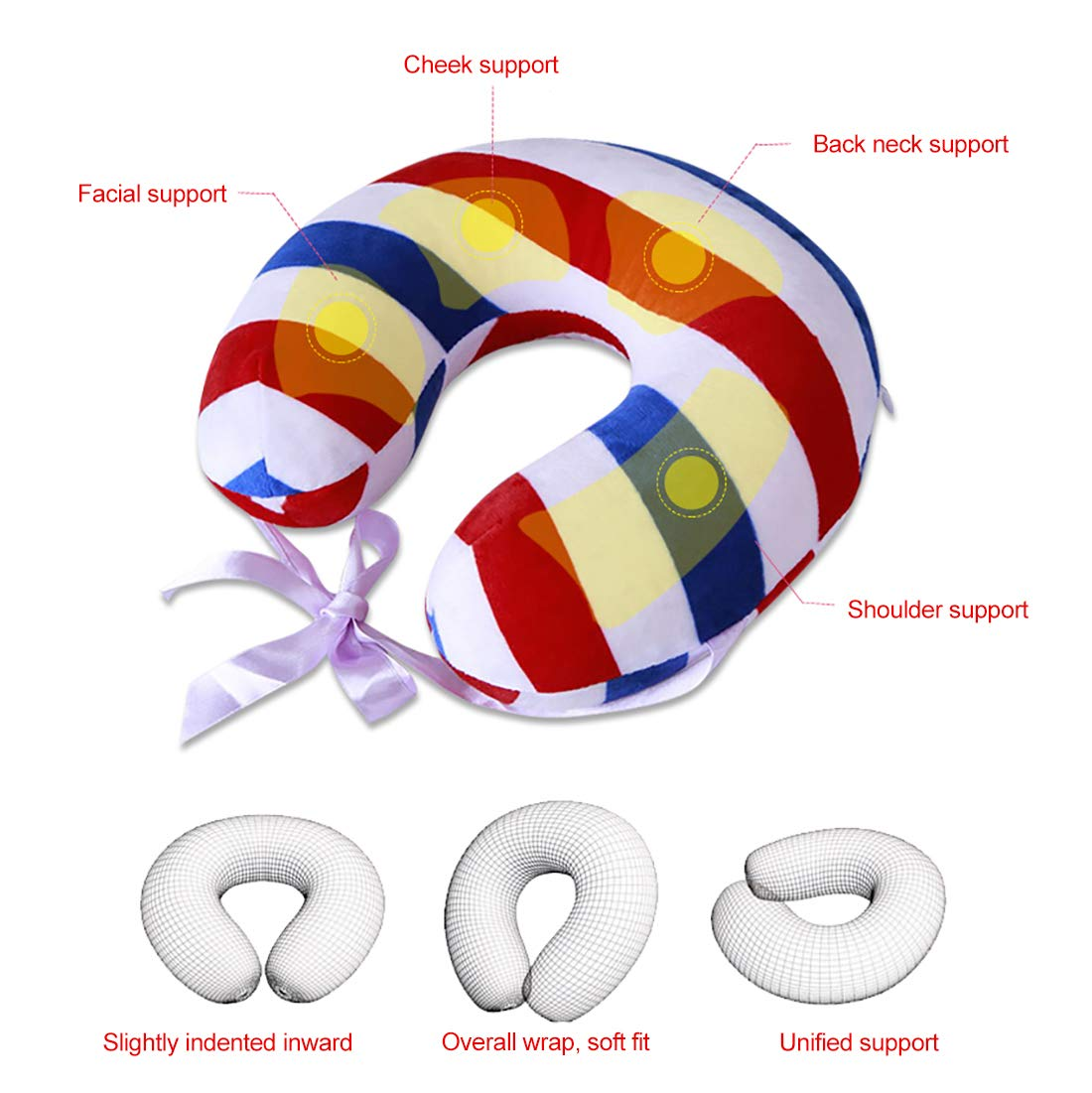 Amazon.com: InBlossoms Portable Travel Pillow, Lightweight Neck ...