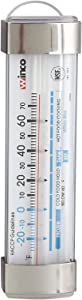 Winco Refrigerator/Freezer Thermometer with Suction Cup, 3-1/2-Inch by 1-1/8-Inch