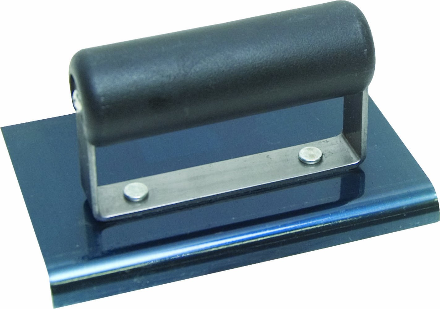 QLT By MARSHALLTOWN CE555BP 6-Inch by 4-Inch Blue Steel Edger with Plastic Handle