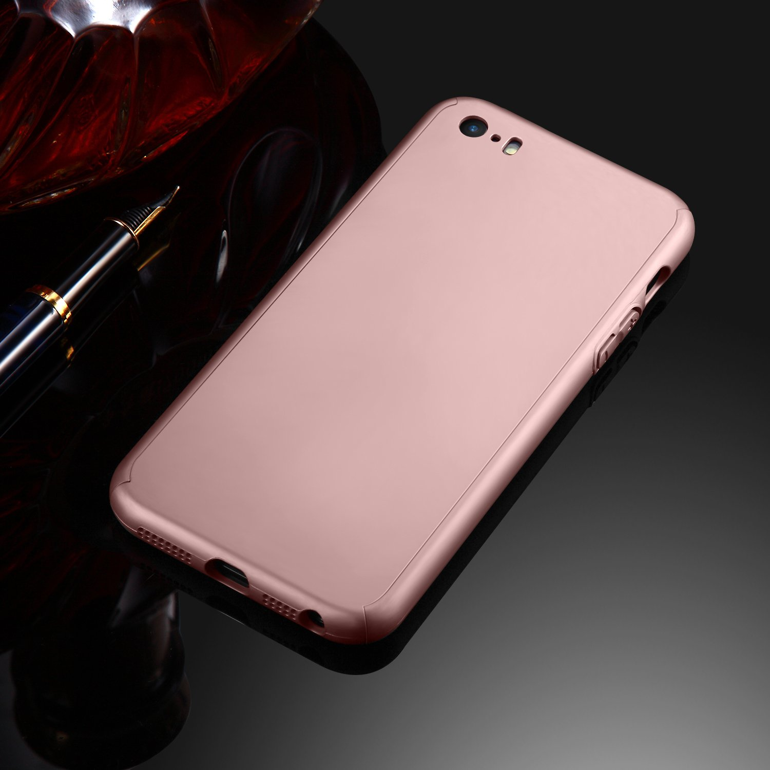 Iphone 6 Plus Case 6s Seekfull 360 Full Body Matte Protective Hard For Golden Protection Ultra Thin Slim With Tempered Glass Screen Protectorcase Apple