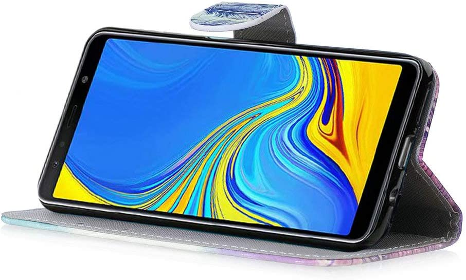 Schl/üsselband H/ülle,Strass Glitzer Diamant Schutzh/ülle,Flip Slim Leder Tasche Case,St/änder Kartenfach Etui Coopay f/ür Samsung Galaxy A7 2018
