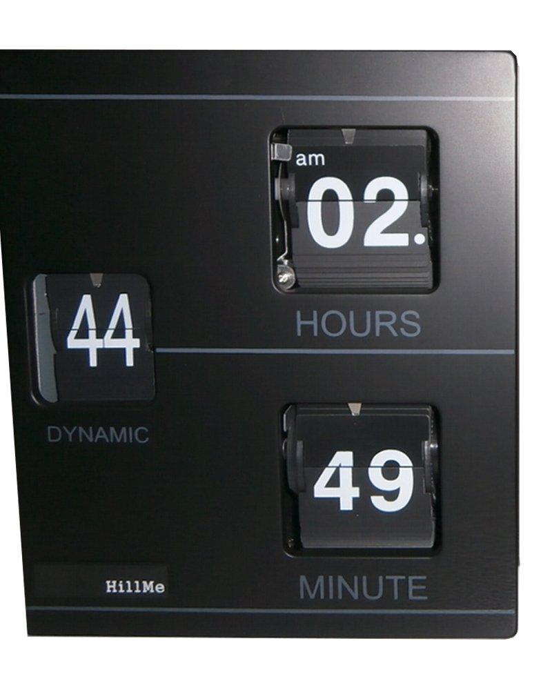 再入荷BOOK FLIP CLOCK/ブック型フリップクロック営業日14時までのご注文確定で【当日出荷】(シンプル箱型置時計) (BLACK) B01AN9KCWSBlack