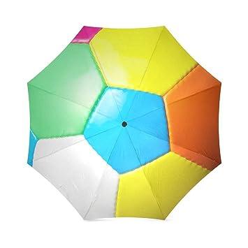 Colorido Fútbol Auto paraguas poliéster Pongee impermeable compacto paraguas
