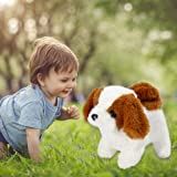 Electrical Simulation Plush Toy Puppy Can Bark and Walk with Tail