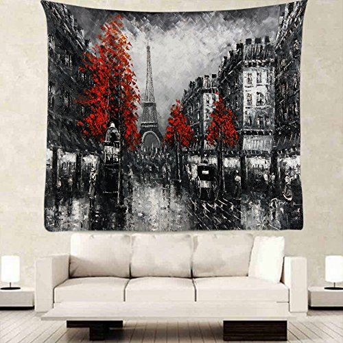 Grey Paris Eiffel Tower Tapestry Wall Decor By Ofloral,
