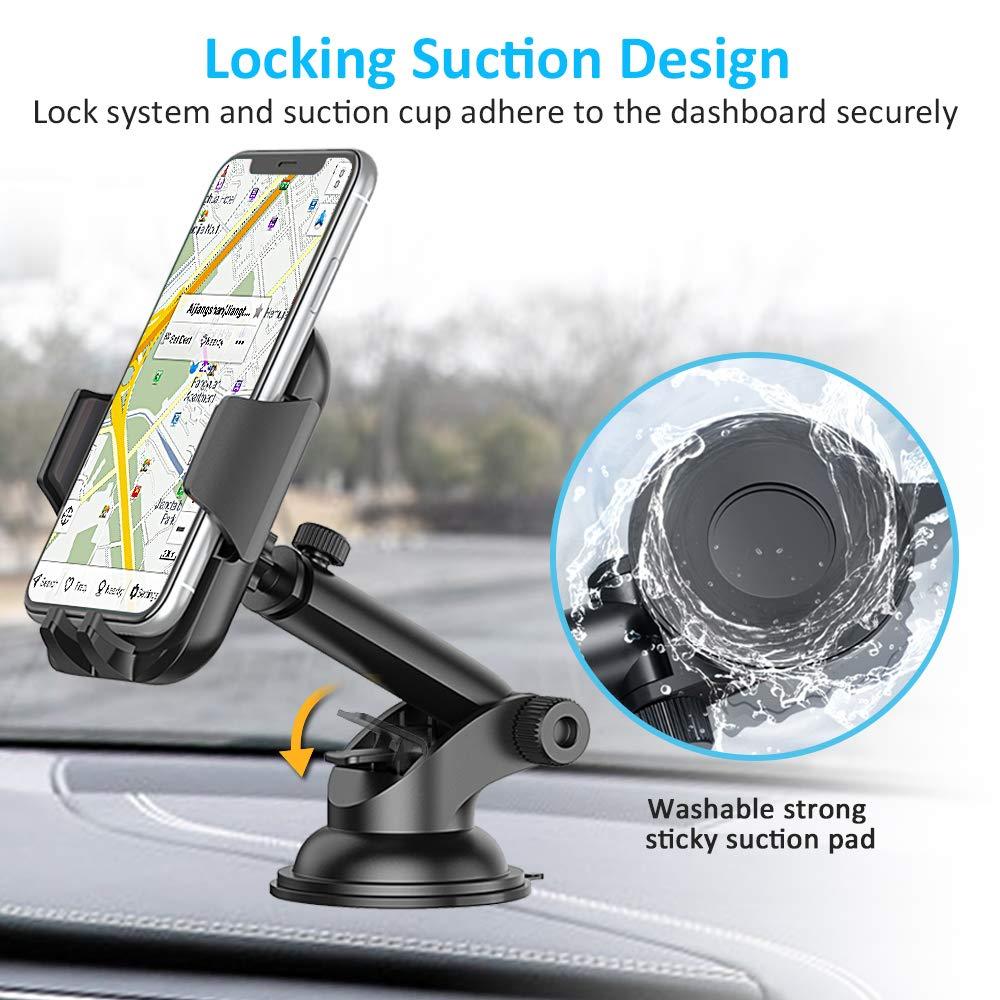 360/° Drehbar Ausziehbarer Arm Schnelle Freigabe Samsung Huawei Xiaomi Cocoda Handyhalterung Auto Handyhalter Auto f/ür iPhone XS Max//XR//X//8 Armaturenbrett//Windschutzscheiben KFZ Handy Halterung